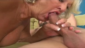 Sucking, Cock, Blowjob, Babysitter, Mature, Granny, Lucky