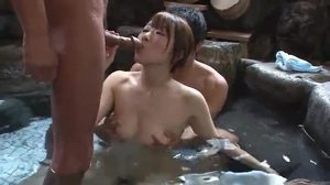 Group, Asian, Gangbang, Blowjob, 3 some, Babe, Bathing